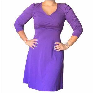 Vintage Amika Purple Flowy V Neck Dress